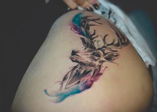 Tatuaje ciervo acuarela 1