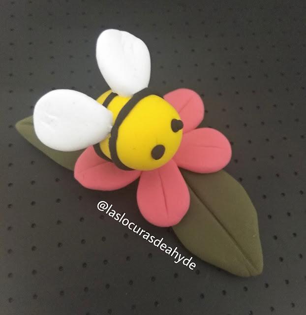 abeja de jumpingclay, arcilla polimerica