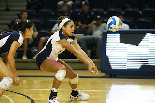 Picture of Mariah Riddlesprigger playing volleyball