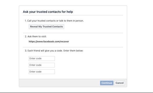 كيفية تحديد أصدقاء موثوقين لاستعادة حساب فيسبوك المقفل من خلالهم