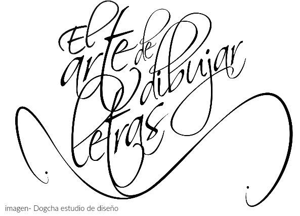 el arte de dibujar letras, adornar letras, lettering