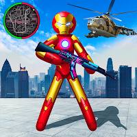 Iron Stickman Rope Hero War Gangstar OffRoad Mod Apk
