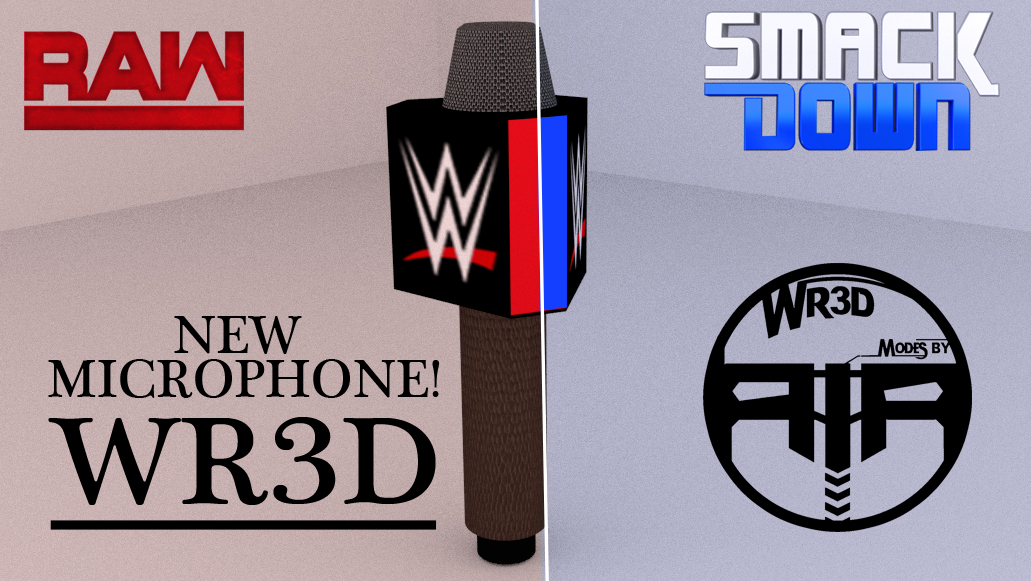 New WWE Raw and Smackdown Microphone!