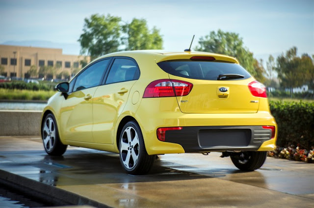 2016 Kia Rio SX in Digital Yellow rear