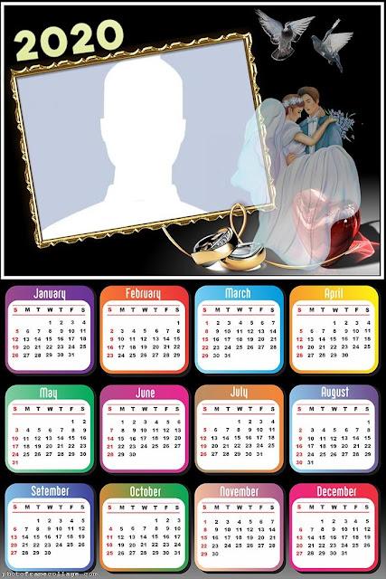Recién Casados: Calendario 2020 para Imprimir Gratis.
