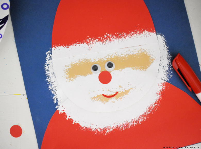 Easy Santa craft for kids