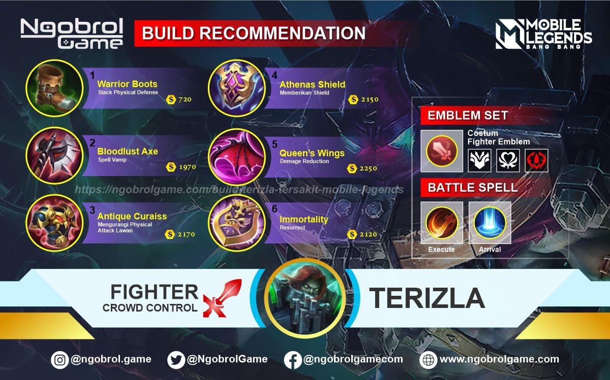 Build Terizla Savage Mobile Legends