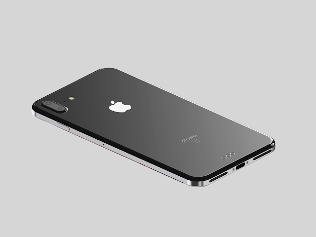 The image of iPhone 8 featuring curved glass edges with steel housing side as rumored. Along with that iPhone 8 will have a High quality Gorrilla Glass, Liquid metal frame, 6.9mm thin, 5.8 inch OLED edge to edge display