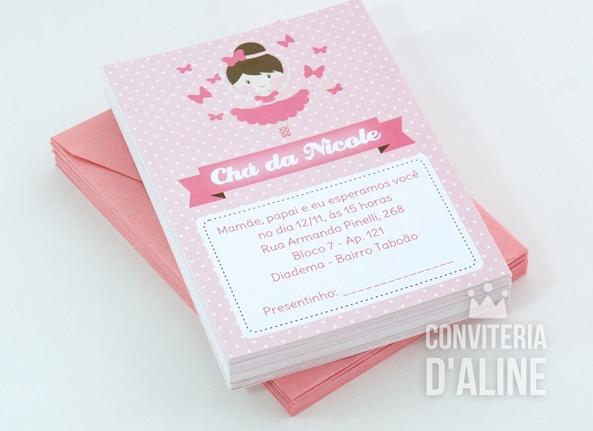Blog Conviteria Daline Festa Bailarina E Borboletas