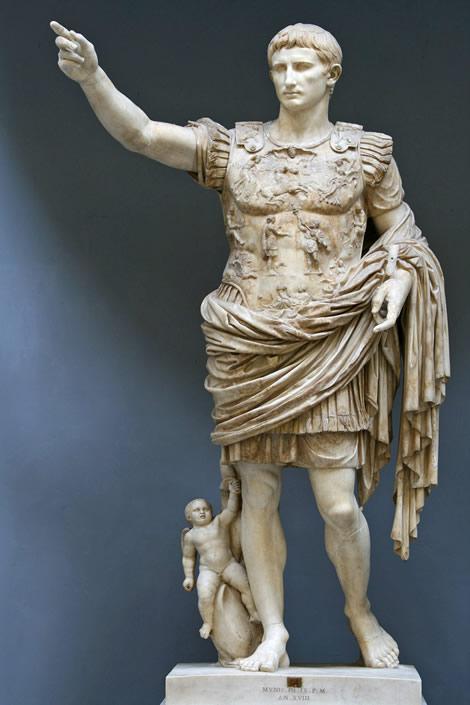 Augustus Caesar statue