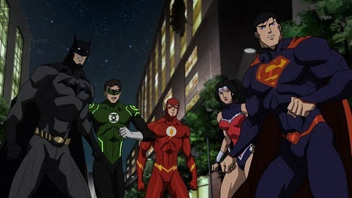 Batman Superman Wonder Woman Justice League Team Movie War DC Universe Animated Original Movie 2014