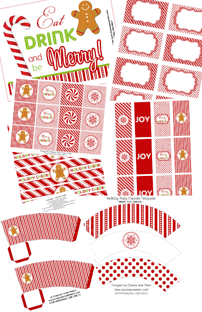 http://pizzazzerie.com/parties/sweet-sparkling-holiday-party-free-printable-collection/
