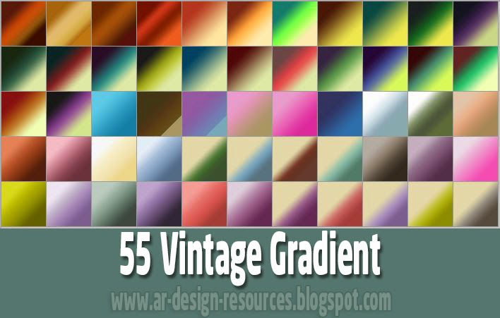 55 Vintage Gradients — Photoshop Add-ons