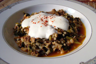 Spinach with Bulgur (Bulgurlu Ispanak)