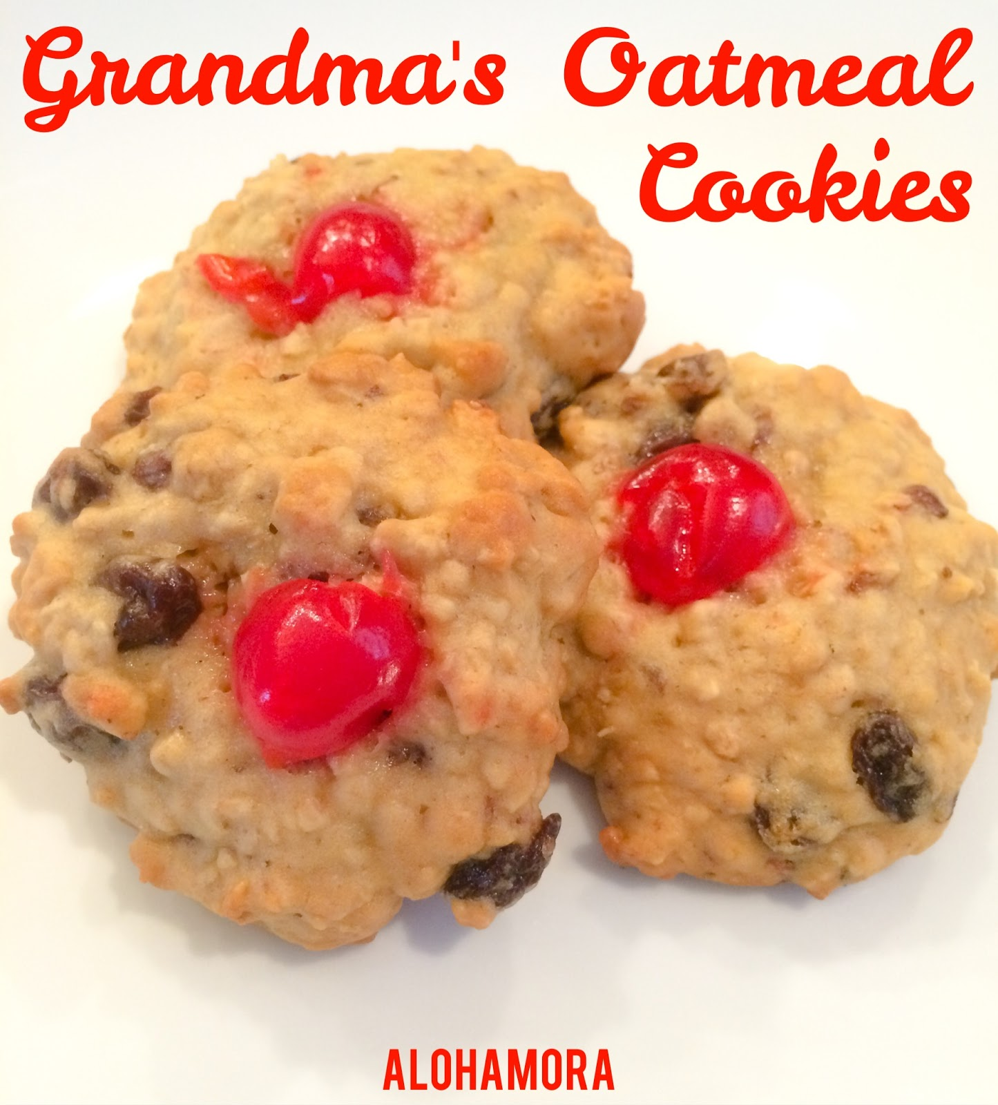 Grandma's Oatmeal Cookies are old school cake like.  Filled with raisins and has such an amazing flavor with a moist cookie the young and old enjoy.  Alohamora Open a Book http://www.alohamoraopenabook.blogspot.com/