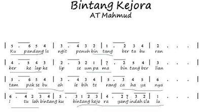 Contoh lagu anak yang saya sukai adalah Lagu Bintang Kejora  karya AT Mahmud. www.simplenews.me
