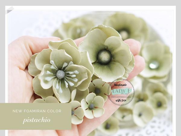 Pistachio Foamiran Flowers, New Foam Colors