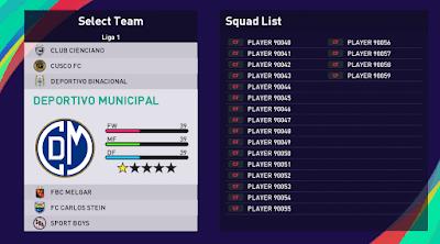 Peruvian league pes21 sp21