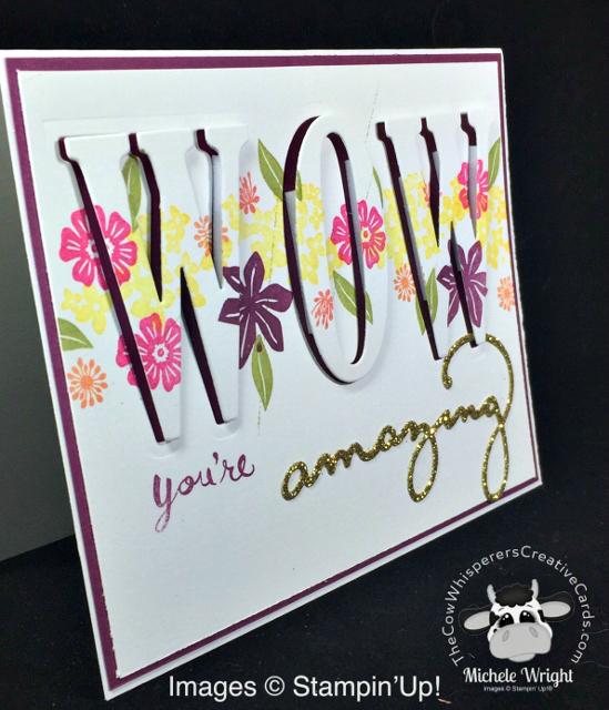 Card, Beautiful Bouquet, Large Letter Dies, Eclipse