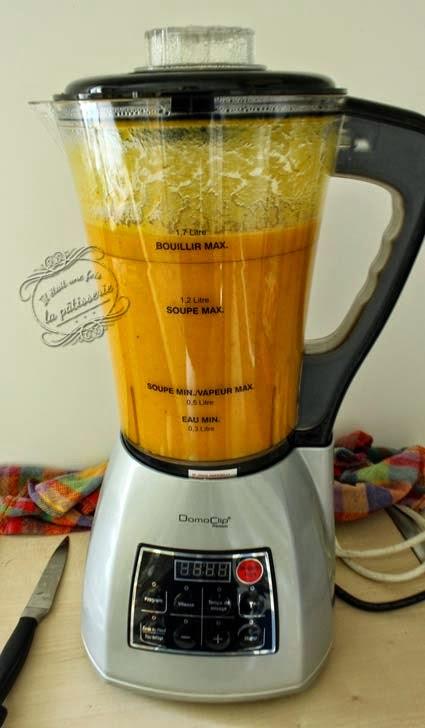 Recette Soupe Blender Chauffant : recette, soupe, blender, chauffant, Soupe, Carotte, Cumin, Blender, Chauffant, était, Pâtisserie