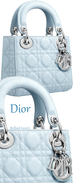 Light blue Lady Dior top-handle bag #brilliantluxury