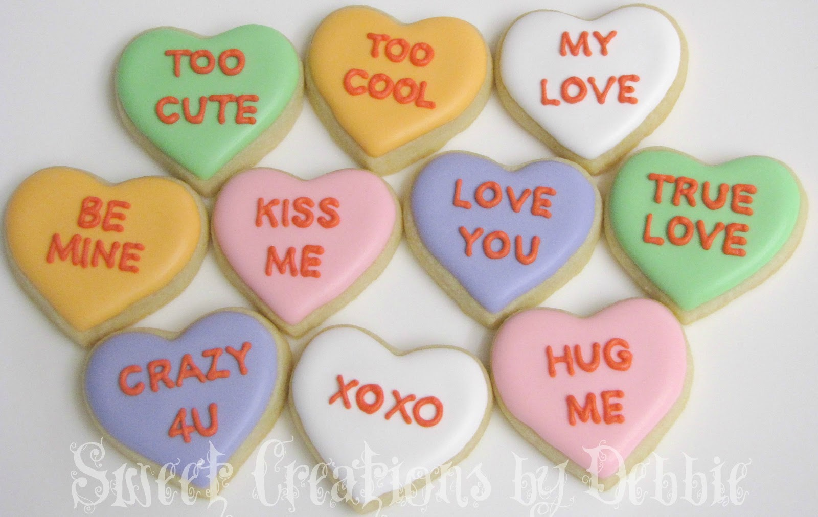 Valentines Heart Candy Cookies