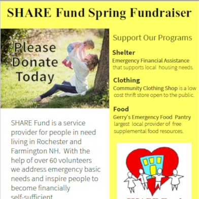 Share Fund, Operating Gerry's Emergency Food Pantry, Announces Annual Spring Fundraiser to Raise Funds and Awareness