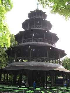 Chinese Tower - the beer garden here is the second largest in Munich