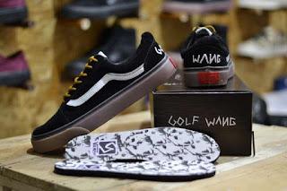 Sepatu Vans Golf Wang Black Suede Waffle ICC