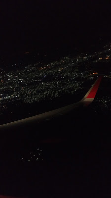 photo taken from flight at night time