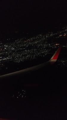 photo taken from flight at night time