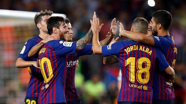مباراة برشلونة واسبانيول 8-12-2018 الدوري الاسباني
