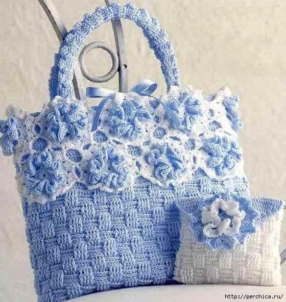 Patrón #1537: Bolso a Crochet