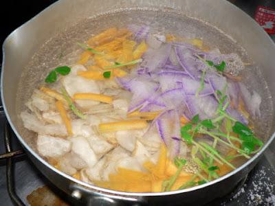 野菜をボイル