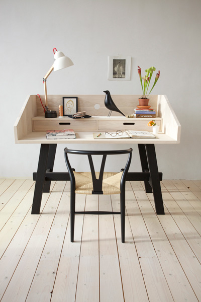 island of white bois brut de d coffrage. Black Bedroom Furniture Sets. Home Design Ideas