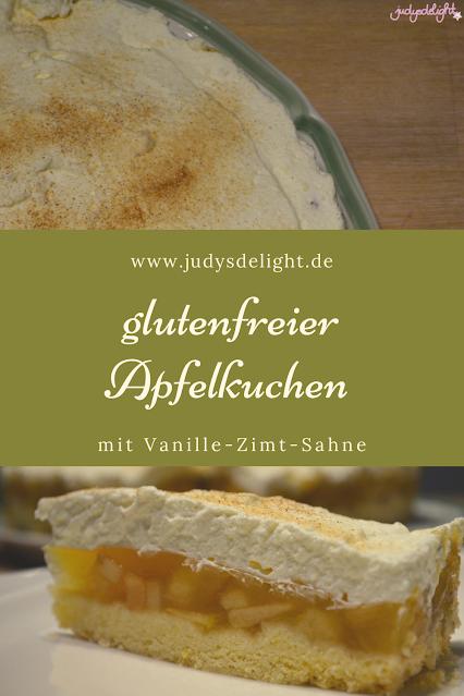 glutenfreier Apfelkuchen mit Vanille-Zimt-Sahne