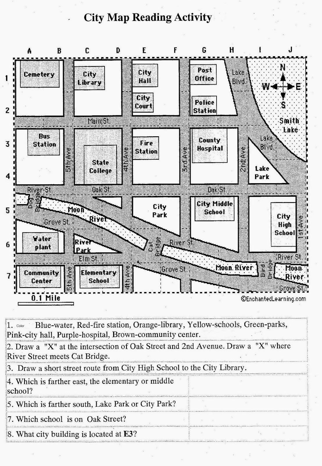 34 Reading A Map Worksheet - Worksheet Resource Plans [ 1600 x 1108 Pixel ]