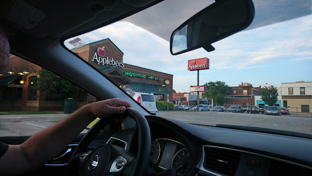 Behind the wheel, and our favourite restaurant