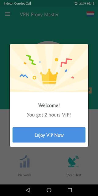 fitur vip gratis yang diberikan adalah 2 jam per sesi