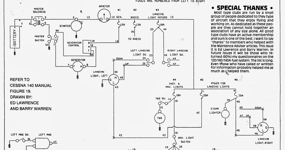 cessna 140 rebirth electrical loads wiring