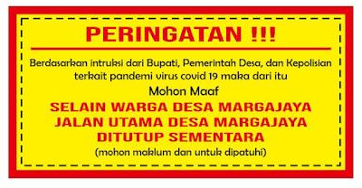 Jalan Utama Desa Margajaya Ngamprah Ditutup, Pertanda Bandung Barat Mulai Lock Down?