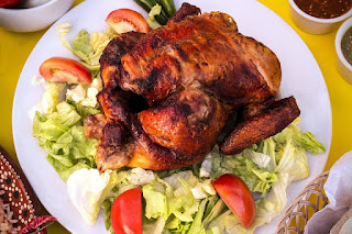 fırında kızarmış bütün tavuk