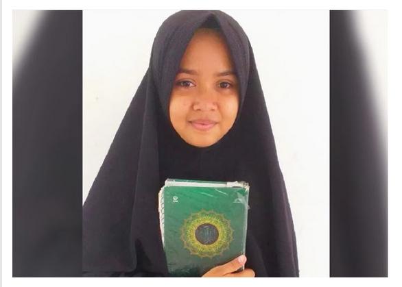 Kisah Neisya Shabina, Anak Tukang Bangunan yang Khatam Hafal Alquran 30 Juz Dalam 7 Bulan