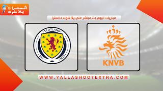 مشاهدة مباراة هولندا ضد اسكتلندا 02-06-2021 في مباراة ودية