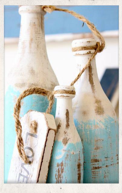 ιδεες καλοκαιρινης διακοσμησης σε μπουκαλια,χειροποιητα μπουκαλια με καλοκαιρινα θεματα,μπουκαλια με ντεκουπαζ