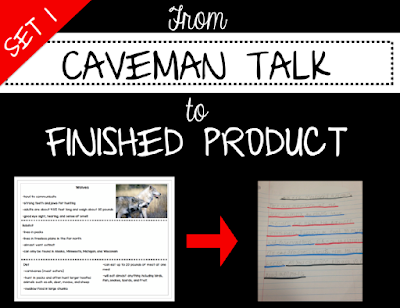 Product cover to help students take notes and turn them into complete sentences.