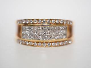 18金の指輪をお買い取りいたしました 本日のK18の買取価格は1g=4,690円です