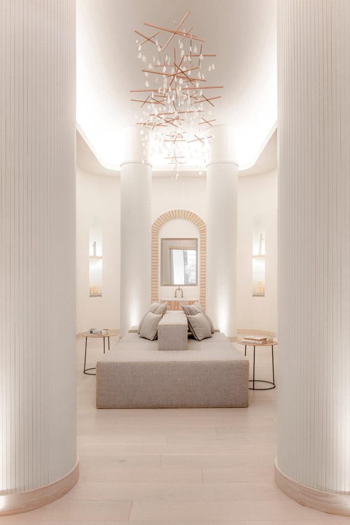 El diseño de interiores espectacular de un centro de bienestar en Nueva York