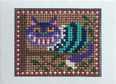 Cheshire Cat ATC (Artist Trading Card)