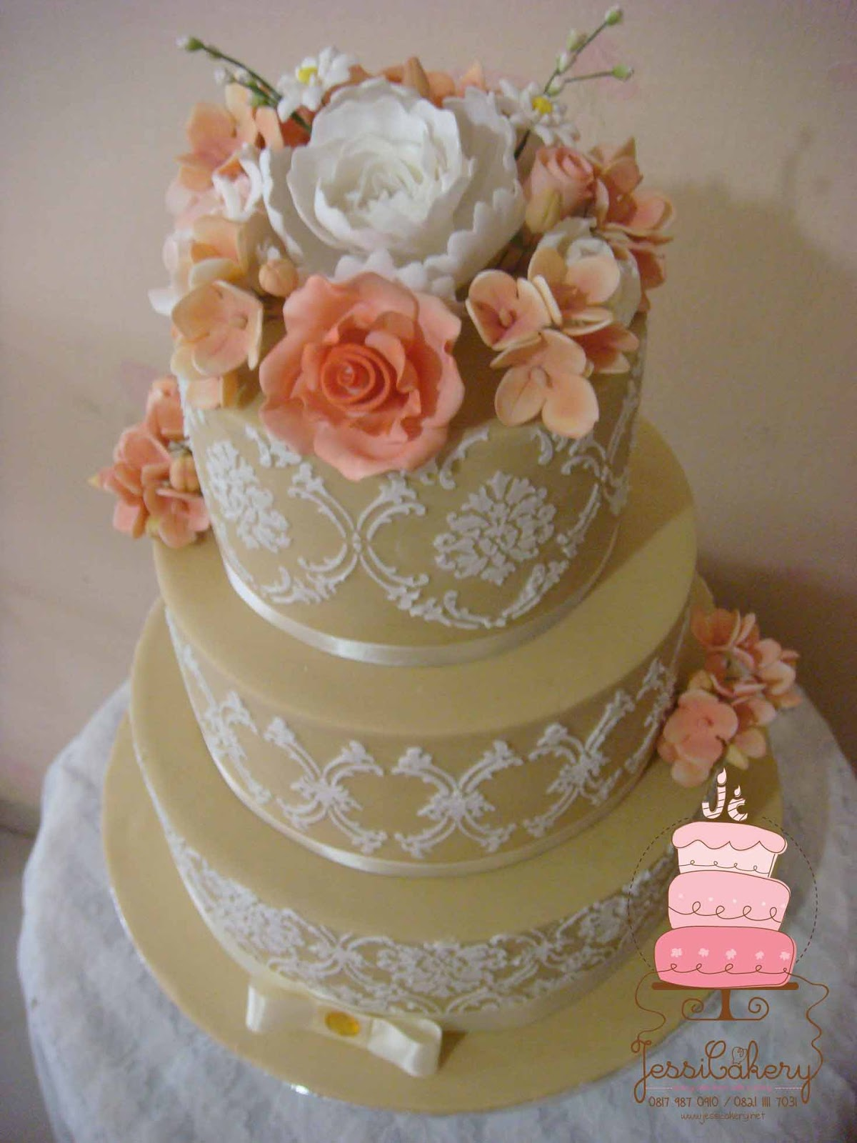 peach themed wedding cakes jessicakery 3 tier wedding cake with and coffee 18140